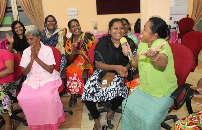 Military widows from Galle and Hambantota visited Trincomalee to share experiences with women from Trincomalee and Matara
