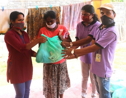 Providing Relief to the Needy in Weligama